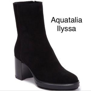 Aquatalia Weatherproof Platform Block Heel Boot